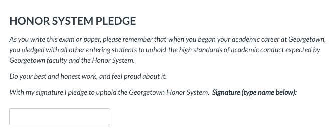 honor pledge text